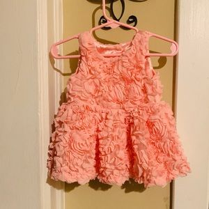 Baby floral pale pink dress